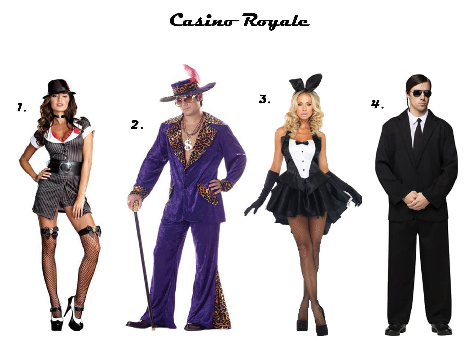 Outfit Ideas for Casino Parties - Themed Casino Party Dress Code Guide