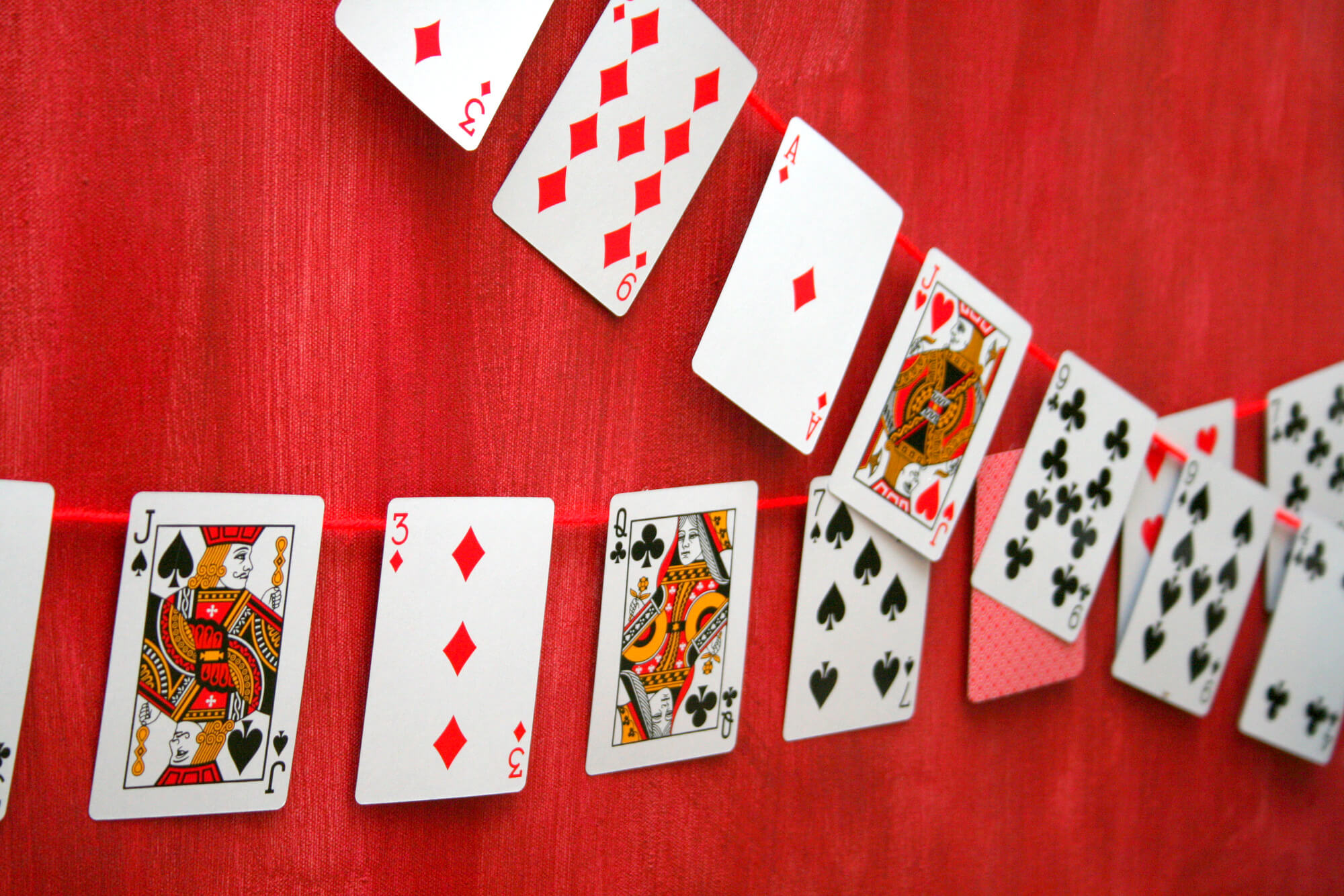 Playing Cards Bunting